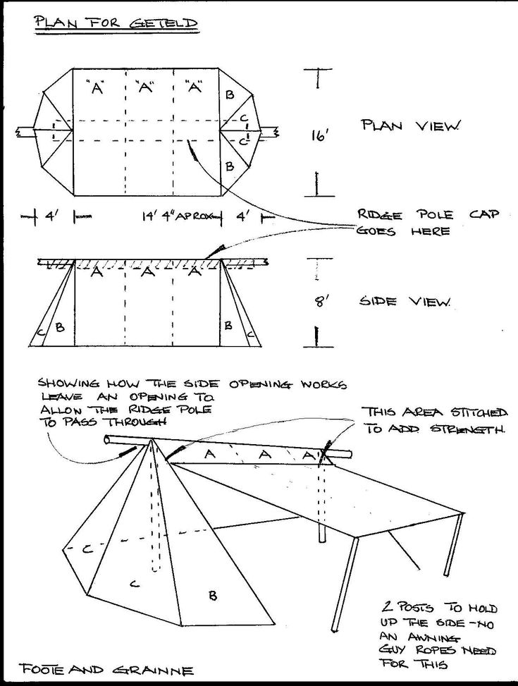 Tent plan