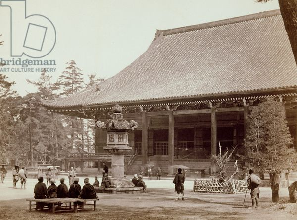 Nishi-honganji temple, Kyoto, 1867-1868 (b/w photo)
