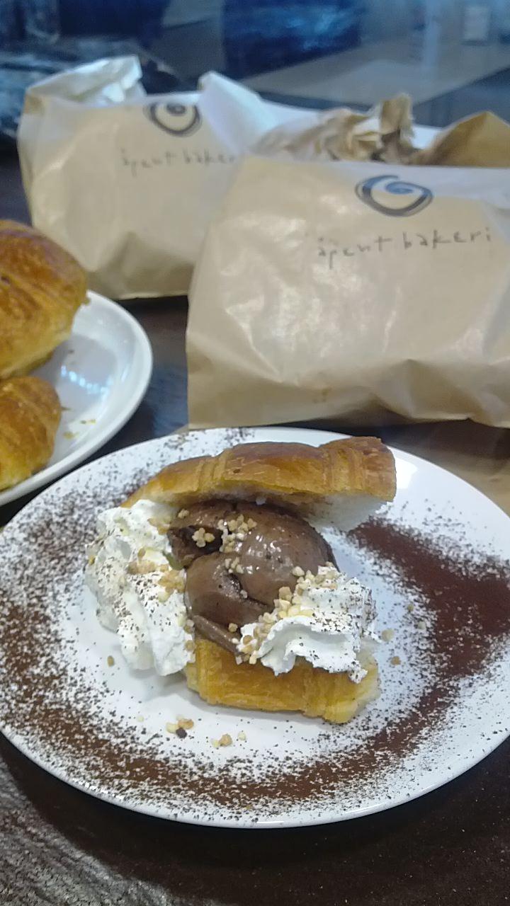 croissant and gelato