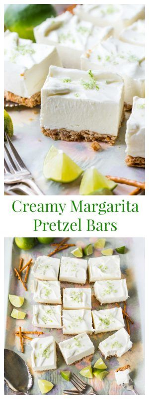 A creamy Margarita flavored dessert bar with a sweet and salty Pretzel Crust. Prefect for summer get togethers!
