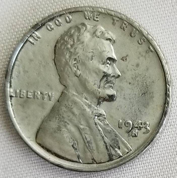 1943 S D Lincoln Wheat Penny Rpd Rpm Error Coin About Uncirculate Steel Zinc Wheat Penny Two S S Over A D Mint Mark Error By Coins Error Coins Penny