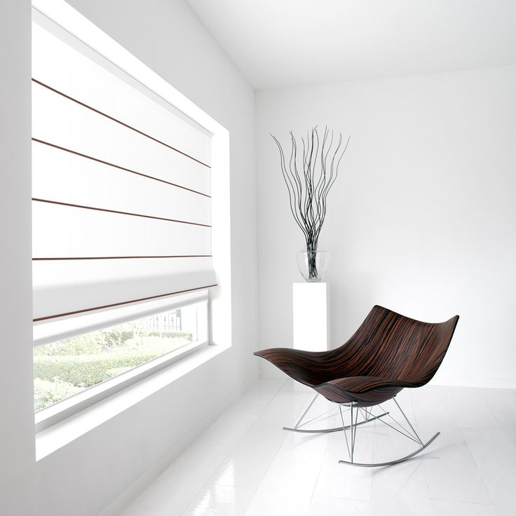 Luxaflex Roman Shades - Inika - Roman blinds with a contemporary look and feel.