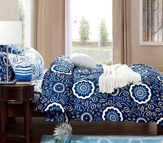 Aqua Notes Twin Xl Comforter In 2020 Dorm Bedding Twin Xl Bedding Dorm Room Comforters