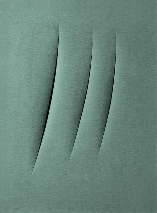 Lucio Fontana, Concetto spaziale: Attese, 1961 #art #modern #povera #Spatialism #Italy