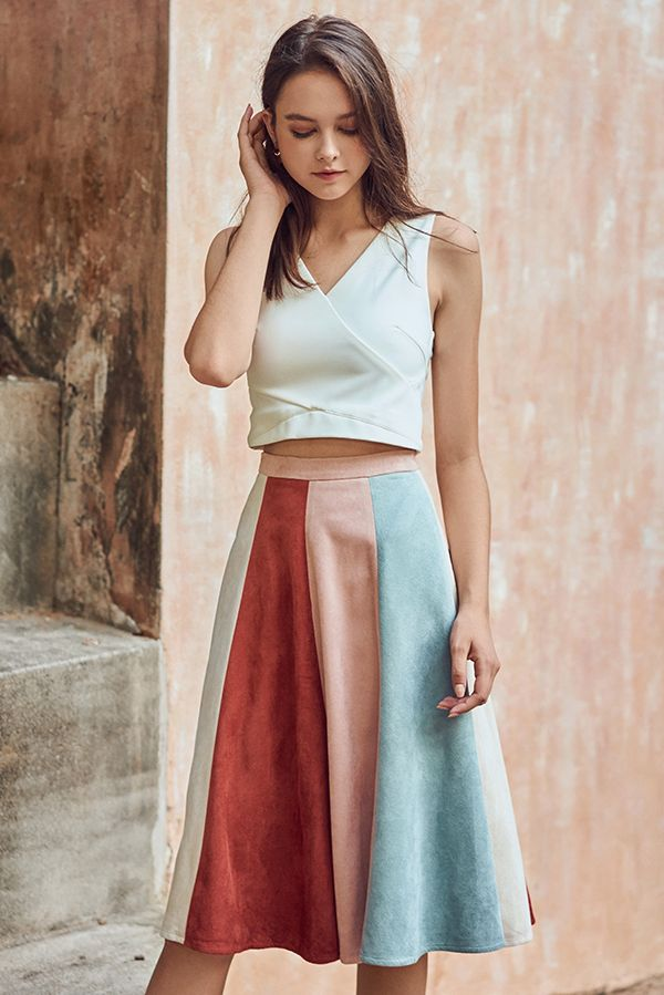 edb215a51 Backorder 2* Lucina Suede Midi Skirt in Pink | Clothes to Wear ...