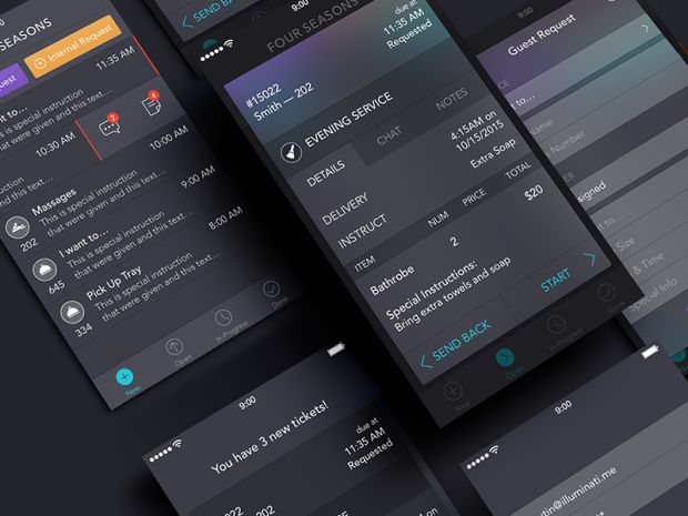 30 Dark iPhone App UI Designs