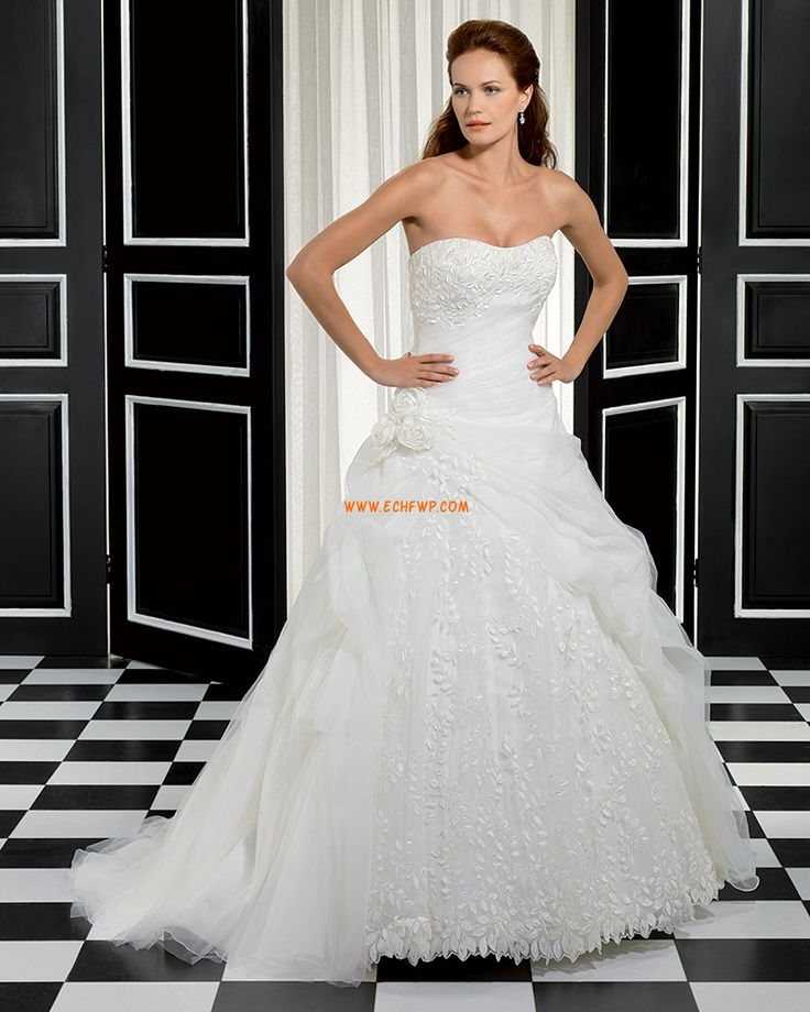 Glamorous & Dramatic Zipper Natural Wedding Dresses 2014