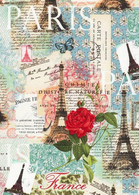 papers.quenalbertini: Paris Collage | Imprimolandia