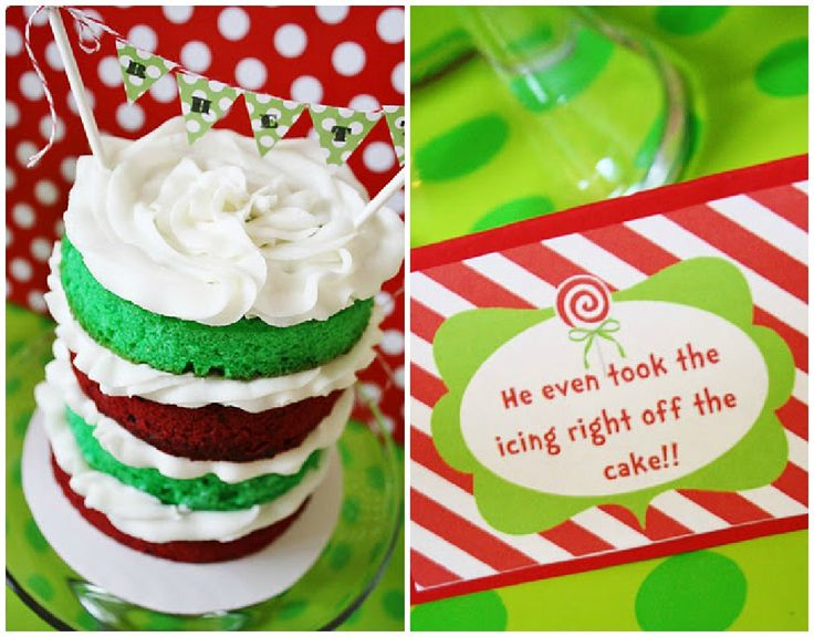 He even took the icing right off the cake! Love this idea for Emma's Christmas birthday