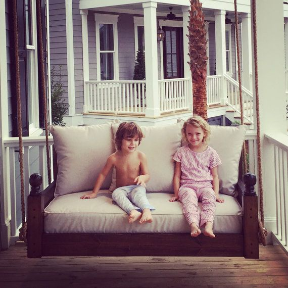 Porch Swing: The West Ashley Swing Bed by LowcountrySwingBeds