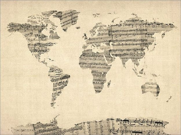 Music map! | 12 Breathtaking Examples Of Sheet Music Art