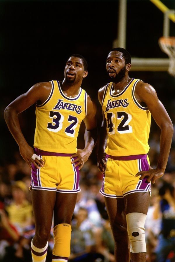Earving Magic Johnson Los Angeles Lakers James Worthy