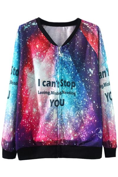 Love Fantasy Galaxy Print Woman JacketOASAP Giveaway, 10 pieces per day, till the end of 2014! Easiest way to get free clothing!