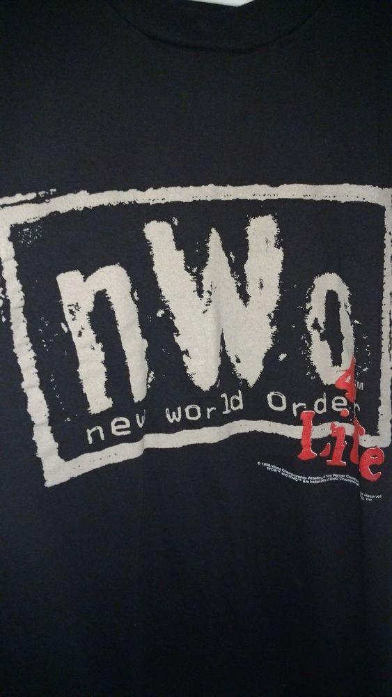 bb56de04e9 nWo RARE Hulk Hogan Nash Hall 90's NWOT mens L official WCW WWF WWE t-shirt  #Wrestling #WWE #WWF
