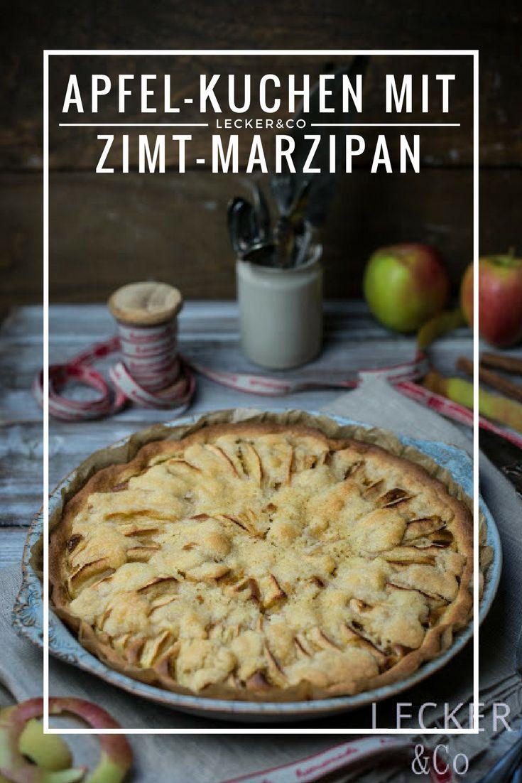 Apfel-Streuselkuchen mit Zimt-Marzipan