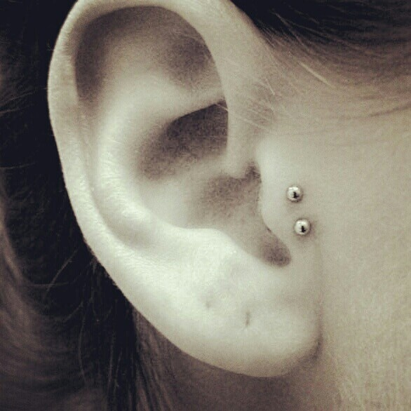 Double tragus... possibly to compensate for my off center tragus piercing