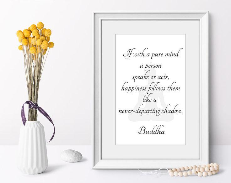 Wall art poster Buddha quotes minimalist art print modern home decor on demand #Minimalism