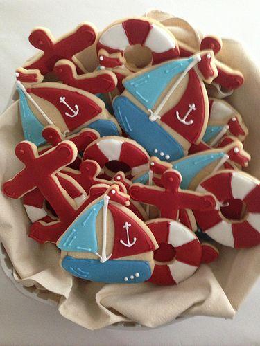 Nautical Cookie Arrangement