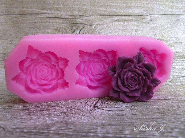 silikonová forma na odlévání - tři růže