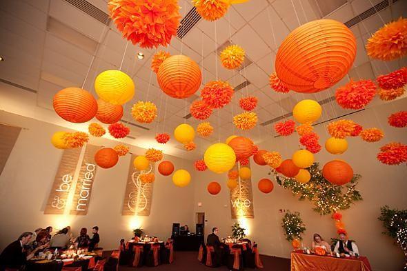 18 best images about party lanterns pom poms on. Black Bedroom Furniture Sets. Home Design Ideas