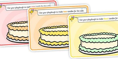 Cake Counting Playdough Mats