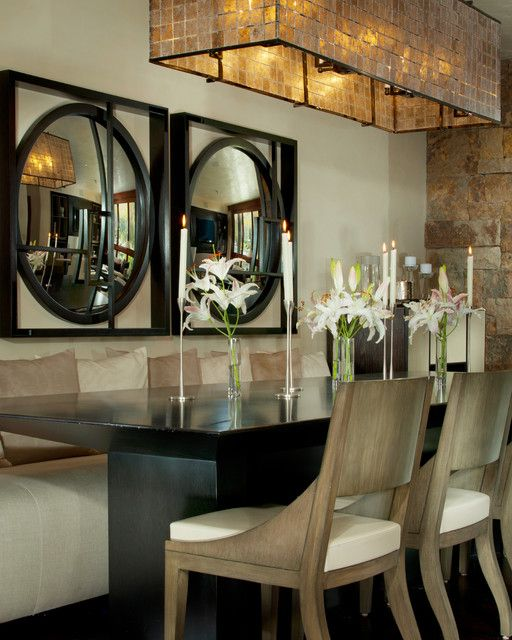 Very unusual design of the dining room dining room done for Very small dining room ideas