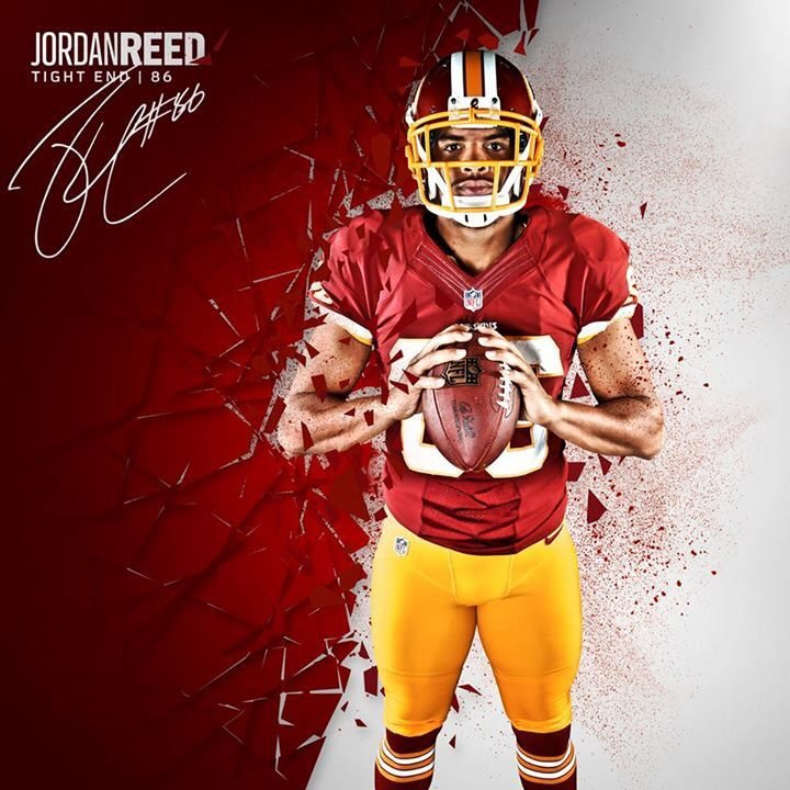 e0d3c31fd ... Jordan Reed looks ready to have a big How many receiving yards do you  think Mens Nike Dallas Cowboys 4 Dak Prescott Elite White Drift Fashion NFL  Jersey ...