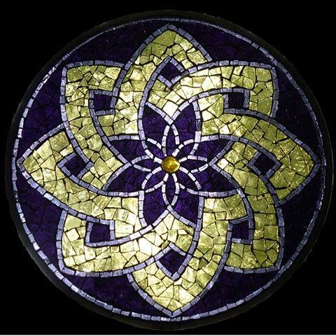 Stained Glass Mosaic Mandala by David Chidgey