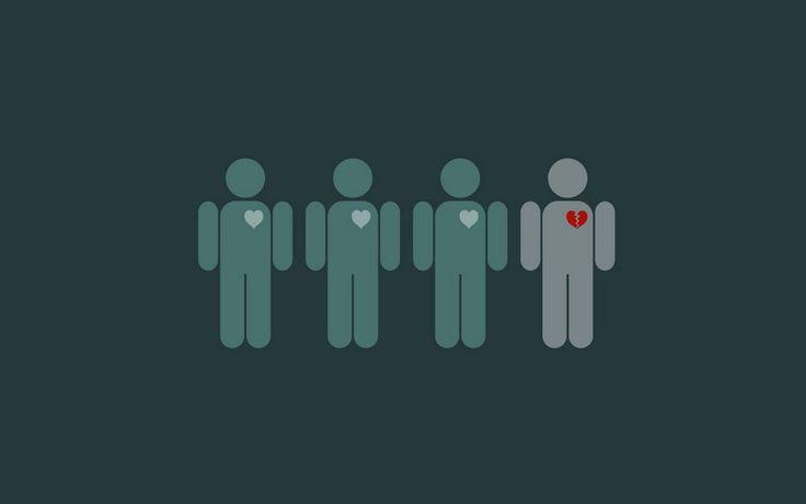 zlomené srdce vektor
