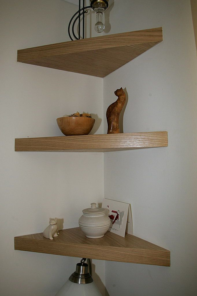 Decorative Floating Shelves On The Wall  Corner Floating Wall Shelves Photo