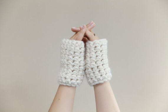Chunky Crochet Wrist Warmers  fingerless mittens in by LumiStyle, $28.00