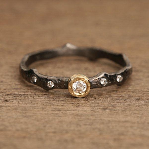 Black Rhodium Plated Ring