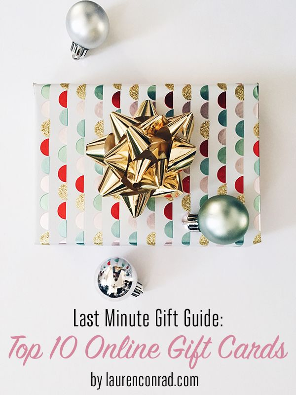 Online gift cards make the best last minute gifts!