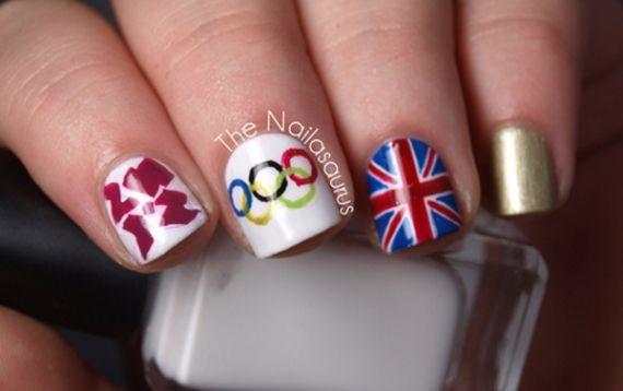 Com o evento das Olimpíadas em Londres, surgiu uma febre no mundo das unhas artísticas. A pedida agora é decorar as unhas no estilo olímpico, tradicionalmente pintando as bandeirinhas dos países nas unhas.