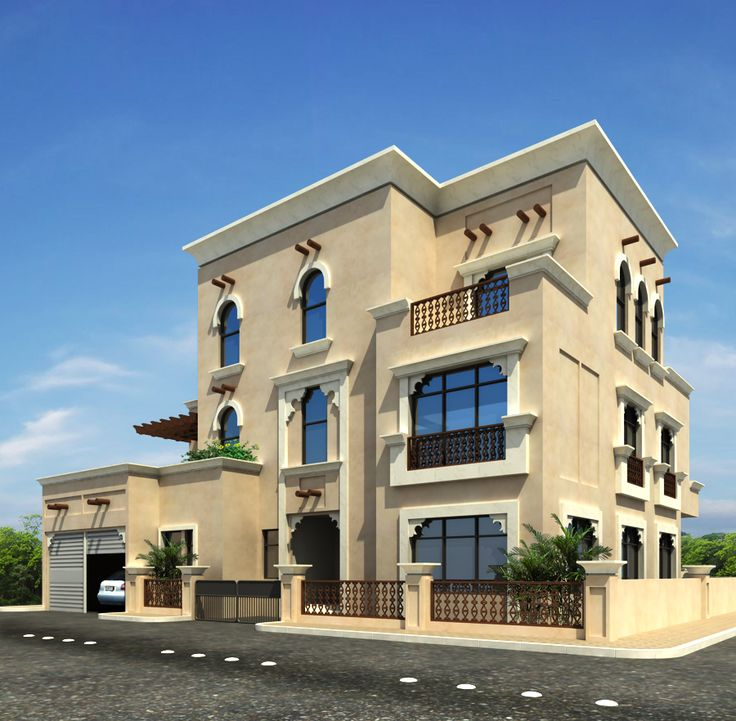 Elevation Mediterranean Architecture Style House Plans: 10 Marla Plan,House Design In Pakistan,3D Front Elevation