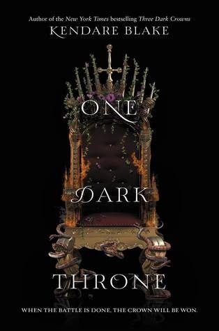 Cover Reveal: One Dark Throne by Kendare Blake - On sale September 19, 2017! #CoverReveal