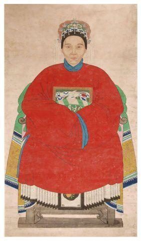 CHINESE ANSESTOR SCROLLS | Chinese Ancestor Figure Painting