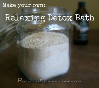 DIY detox bath.