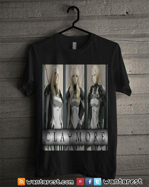 Claymore Anime t-shirts unisex Only $17 ship to worldwide, available size S to 2XL. #Claymore #Clare #Raki #Rubel #Teresa #Anime #Shirt #Otaku #Cosplay #Clothing #Tshirt