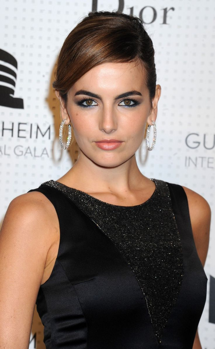 Camilla Belle in Dior black evening gown with sweep train | Guggenheim International Gala Dinner Made Possible by Dior -Nov. 6 2014