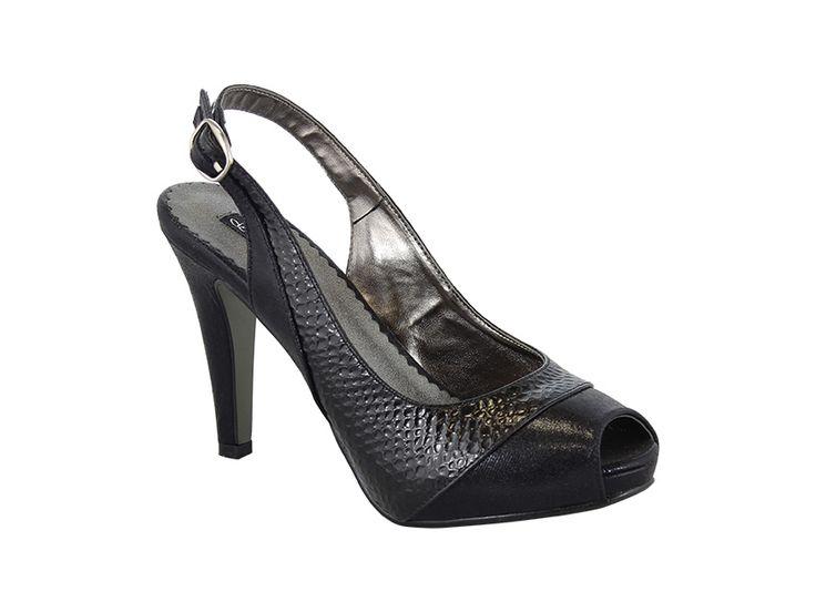 Zapatos de fiesta con interior de piel muy comodas. Aunque parece alto me lo llevo diariamiente :)