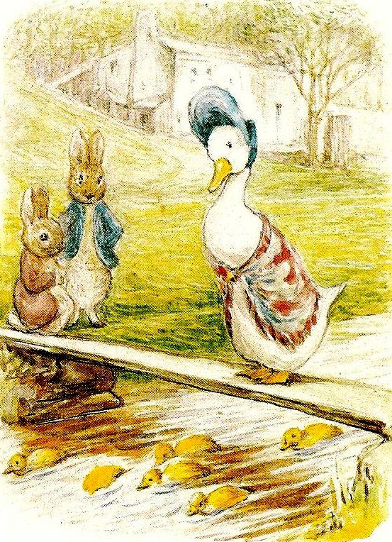 Beatrix Potter...I will never forget Jemmima Puddle Duck
