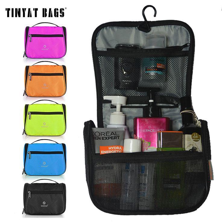 Tinyat mannen reizen waszak vrouwen toiletartikelen tas graceful vrouwelijke makeup bag organizer travel case cosmetische bagt702 zwart