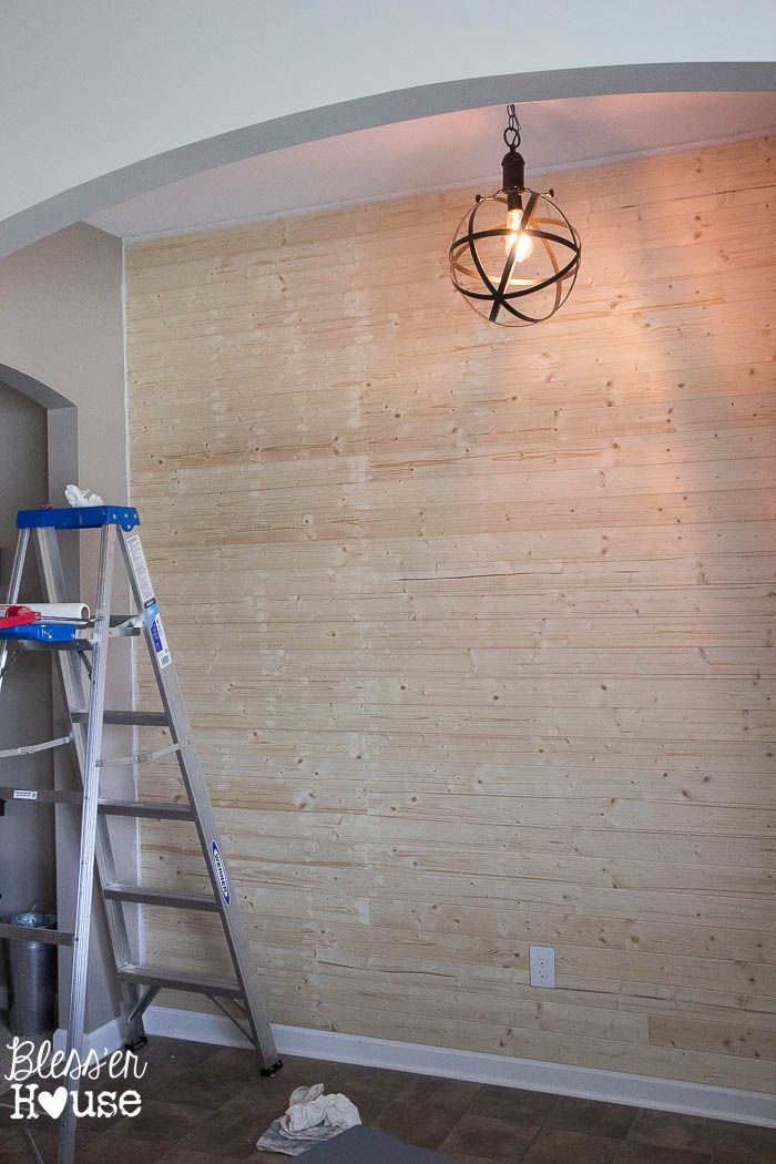 Diy Faux Shiplap Wall My Home Ship Lap Walls Faux