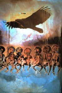 Carl Beam canvas