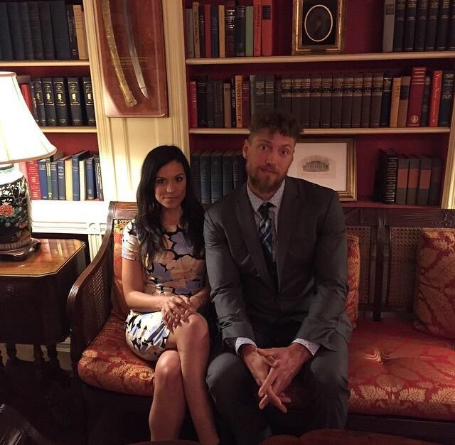 Hunter Pence and his girlfriend at the White House -- June 4, 2015