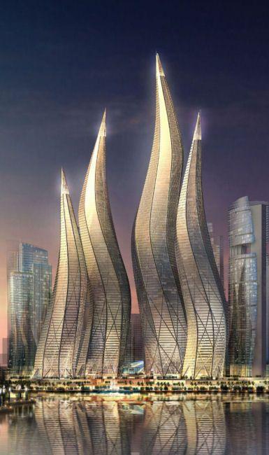 Dubai Towers by Thompson, Ventulett, Stainback & Associates in Dubai, United Arab Emirates