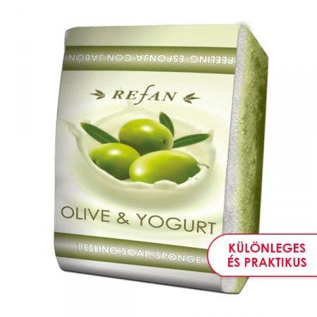 Olíva & Joghurt szivacsos szappan - 2 az 1-ben bőrfeszesítő szivacsos szappan az olíva és joghurt tápláló keverékével. Gyengéd bőrradírozó és feszesítő hatású. Mindennapi használata megelőzi a narancsbőr kialakulását, serkenti a vérkeringést. ©Refantázia