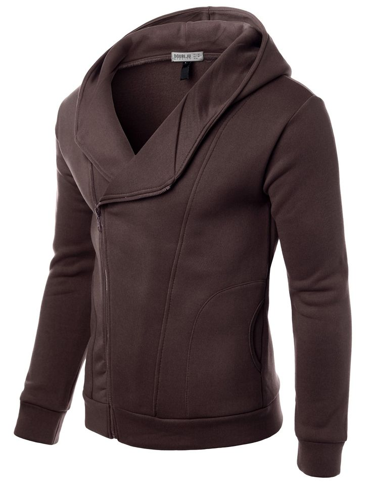 Mens Casual Slim Fit Hood Jacket #doublju