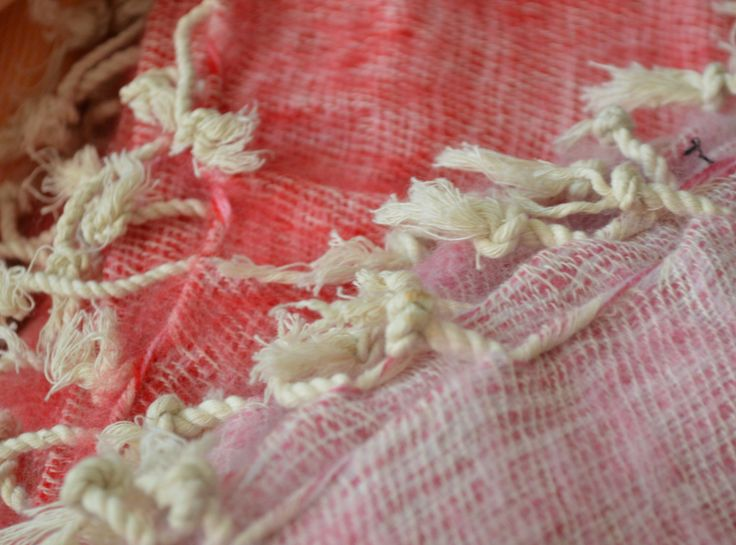 Red & White - Mayalu Nepalese Shawls by MayaluShawls on Etsy